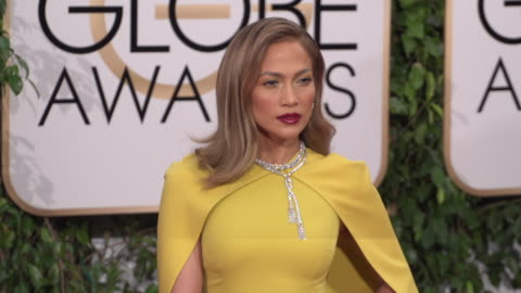 jennifer lopez at the 73rd annual golden globe awards - arrivals at the beverly hilton hotel on january 10, 2016 in beverly hills, california. 4k... - golden globe awards stock videos & royalty-free footage