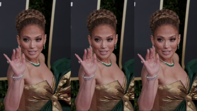jennifer lopez at the 77th annual golden globe awards at the beverly hilton hotel on january 05 2020 in beverly hills california - the beverly hilton hotel stock-videos und b-roll-filmmaterial