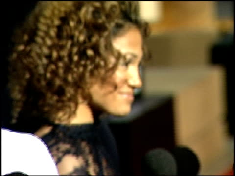jennifer lopez at the 'angel eyes' premiere at the egyptian theatre in hollywood california on may 13 2001 - angel点の映像素材/bロール