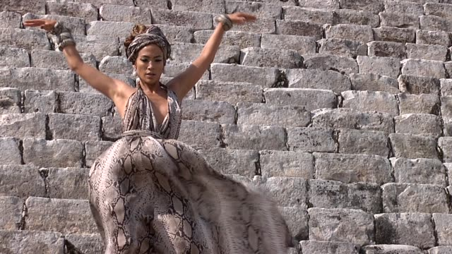 Jennifer Lopez at the I'm Into You Music Video Shoot at ChichenItza