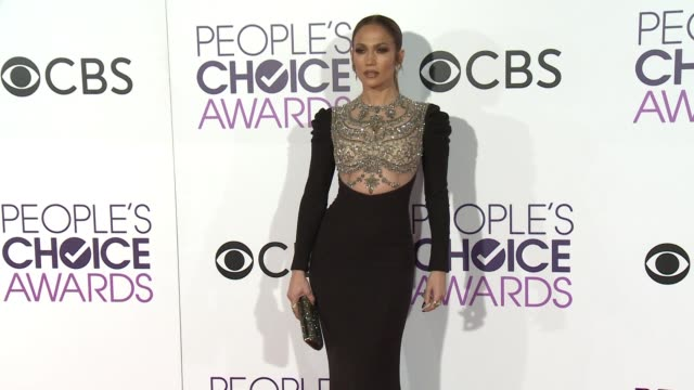 jennifer lopez at the people's choice awards 2017 at microsoft theater on january 18 2017 in los angeles california - microsoft theater los angeles stock videos and b-roll footage
