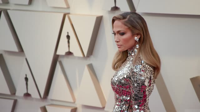 jennifer lopez at ther 91st academy awards arrivals at dolby theatre on february 24 2019 in hollywood california - academy awards stock videos & royalty-free footage