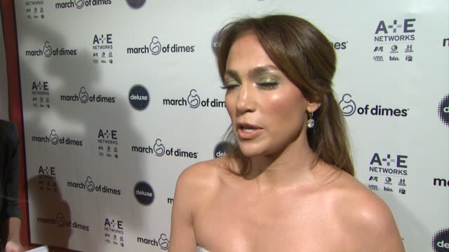 stockvideo's en b-roll-footage met interview jennifer lopez on being honored at march of dimes celebration of babies luncheon honoring jennifer lopez in los angeles ca on 12/06/13 - jennifer lopez