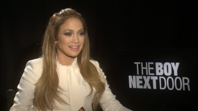 jennifer lopez on dating younger man and being volnurable at the 'the boy next door' interview - american idol stock videos & royalty-free footage