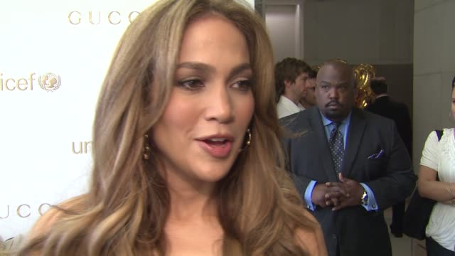 Jennifer Lopez on the event and charity at the Gucci And Jennifer Lopez Celebrate The Launch of Gucci Children's Collection at Beverly Hills CA