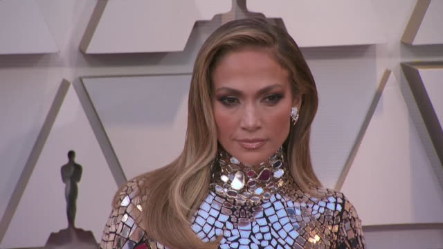 jennifer lopez walking the red carpet at the 91st annual academy awards at the dolby theater in los angeles, california. - music or celebrities or fashion or film industry or film premiere or youth culture or novelty item or vacations 個影片檔及 b 捲影像