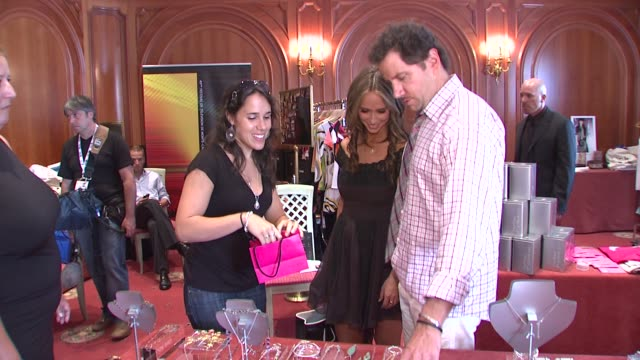 jennifer love hewitt and jamie kennedy at the monte carlo television festival 2009 - day 2 - gift lounge at monaco . - day 2 stock videos & royalty-free footage