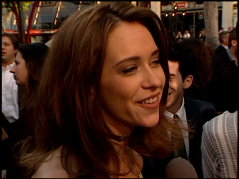 jennifer love hewitt at the 'can't hardly wait' premiere at grauman's chinese theatre in hollywood california on june 2 1998 - jennifer love hewitt stock videos & royalty-free footage