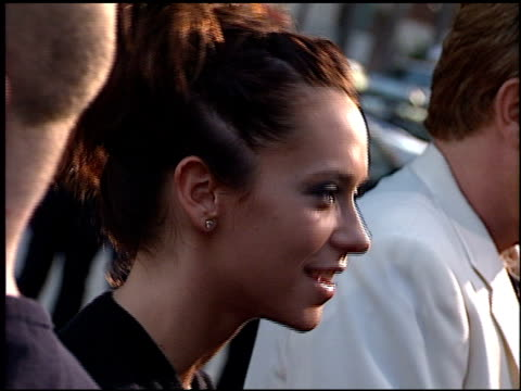 jennifer love hewitt at the 'dance with me' premiere at hollywood galaxy theater in hollywood california on august 13 1998 - jennifer love hewitt stock videos & royalty-free footage