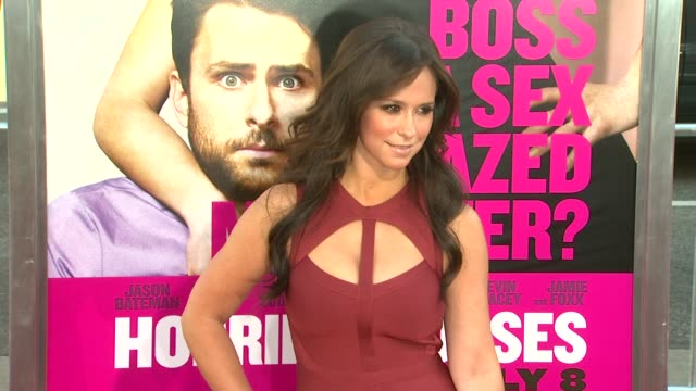 jennifer love hewitt at the 'horrible bosses' los angeles premiere at hollywood ca - jennifer love hewitt stock videos & royalty-free footage