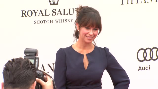 jennifer love hewitt at the tiffany co sponsors the foundation polo challenge at santa barbara ca - jennifer love hewitt stock videos & royalty-free footage