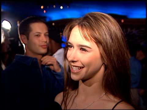 jennifer love hewitt at the ym magazine '50 most beautiful guys in the world' event at planet hollywood in beverly hills california on december 3 1996 - jennifer love hewitt stock videos & royalty-free footage