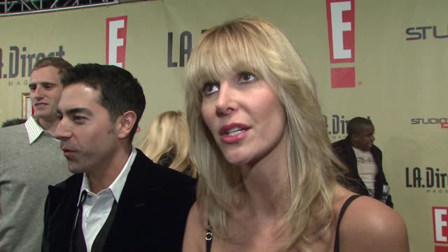 jennifer mccall on attending the event and on what she has going on in 2008 at the la direct magazine's holiday party at les deux in los angeles... - les deux club stock videos & royalty-free footage