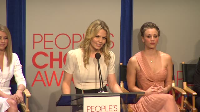 jennifer morrison at the people's choice awards 2012 nominations press conference - people's choice awards stock videos & royalty-free footage