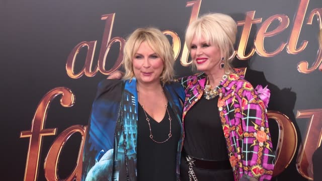 jennifer saunders and joanna lumley at absolutely fabulous the movie us premiere presented by fox searchlight at sva theatre on july 18 2016 in new... - jennifer saunders stock videos & royalty-free footage