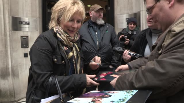 jennifer saunders at celebrity video sightings on march 15 2013 in london england - jennifer saunders stock videos & royalty-free footage