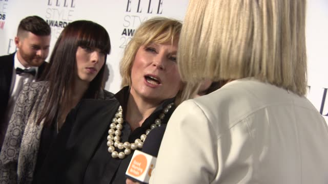 jennifer saunders at elle style awards on february 24 2015 in london england - jennifer saunders stock videos & royalty-free footage