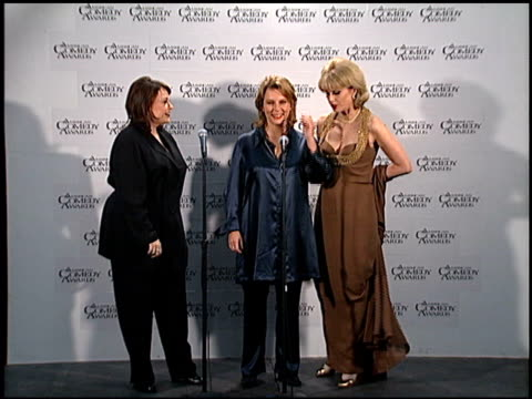 jennifer saunders at the american comedy awards at the shrine auditorium in los angeles california on february 11 1996 - jennifer saunders stock videos & royalty-free footage