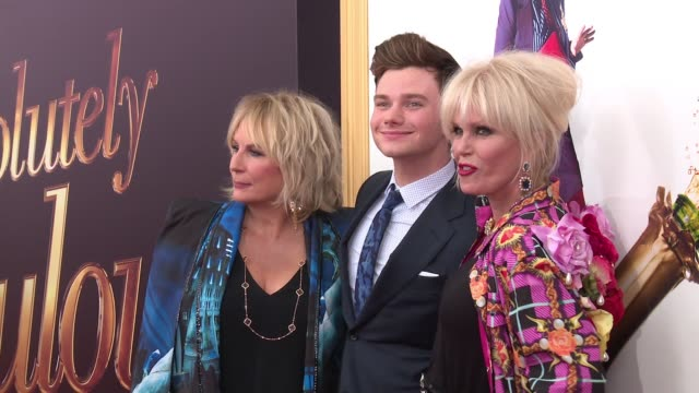 Jennifer Saunders Chris Colfer and Joanna Lumley at Absolutely Fabulous The Movie US Premiere Presented By Fox Searchlight at SVA Theatre on July 18...