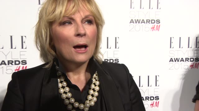interview jennifer saunders on clothing for the event why elle style awards venue rebel wilson at elle style awards on february 24 2015 in london... - jennifer saunders stock videos & royalty-free footage