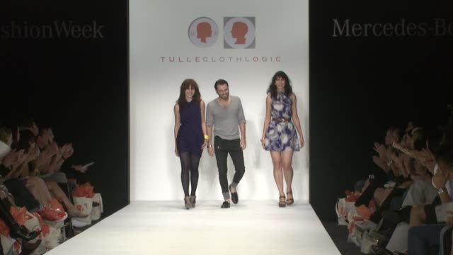 jennifer smith and anoushka alden at the los angeles fashion week tulle and cloth logic at los angeles ca - tulle stock videos and b-roll footage