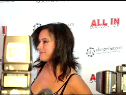 jennifer tilly at the all in magazine's celebrity charity poker at spyder in hollywood california on february 23 2005 - jennifer tilly stock videos & royalty-free footage