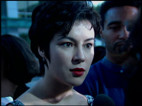 jennifer tilly at the premiere of 'the mask' at academy theater in beverly hills california on july 28 1994 - jennifer tilly stock videos & royalty-free footage