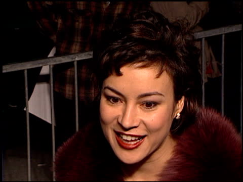 jennifer tilly at the 'tomorrow never dies' premiere at dorothy chandler pavilion in los angeles california on december 16 1997 - pavilion stock videos & royalty-free footage