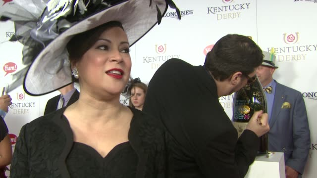 interview jennifer tilly on how much she loves the event at moet chandon toasts the 139th kentucky derby at churchill downs on may 04 2013 in... - jennifer tilly stock videos & royalty-free footage