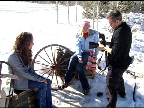 Jennifer Tisdale and Lauren Mayhew at the Levi Ranch at the Sundance Film Festival at Levi Ranch in Park City Utah on January 23 2005