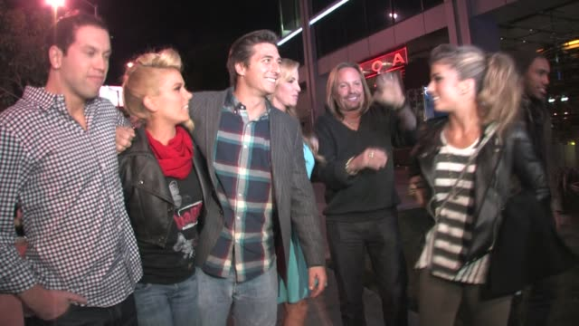 jennifer wester jonny moseley vince neil brooke castile at boa in west hollywood at the celebrity sightings in los angeles at los angeles ca - vince neil stock videos and b-roll footage