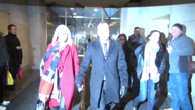 jenny mccarthy and donnie wahlberg leave the today show in celebrity sightings in new york, - ジェニー・マッカーシー点の映像素材/bロール