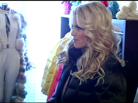 jenny mccarthy at escada in the motorola lodge at the 2005 park city motorola lodge at the motorola lodge in park city, utah on january 21, 2005. - escada stock videos & royalty-free footage