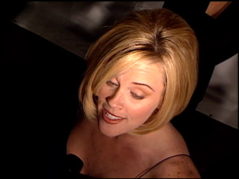 jenny mccarthy at the 1997 fire and ice ball on december 3, 1997. - ジェニー・マッカーシー点の映像素材/bロール