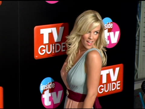 stockvideo's en b-roll-footage met jenny mccarthy at the 2005 tv guide and inside tv emmy awards after party at the hollywood roosevelt hotel in hollywood california on september 19... - 2005