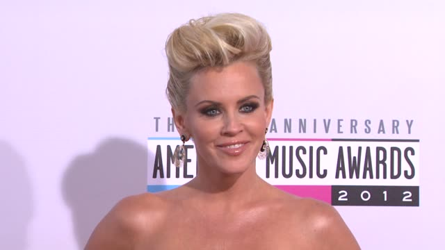 jenny mccarthy at the 40th american music awards - arrivals on in los angeles, ca. - ジェニー・マッカーシー点の映像素材/bロール