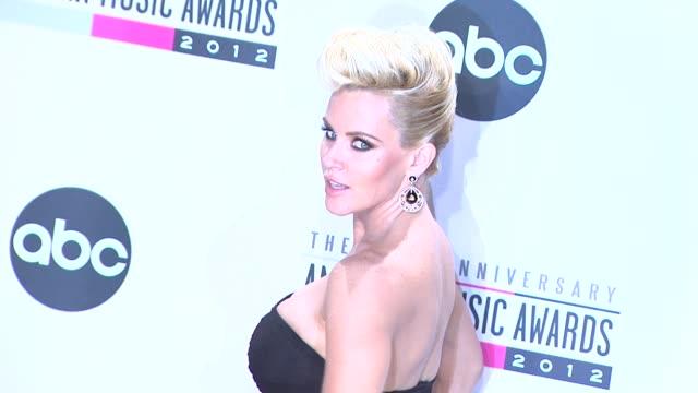 jenny mccarthy at the 40th american music awards - press room on in los angeles, ca. - ジェニー・マッカーシー点の映像素材/bロール