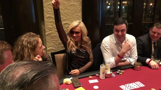 jenny mccarthy at the generation rescue celebrity poker tournament on march 9, 2019 in st. charles, illinois. - ジェニー・マッカーシー点の映像素材/bロール