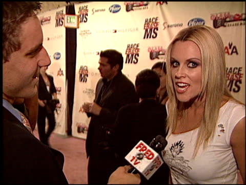 jenny mccarthy at the race to erase at the century plaza hotel in century city, california on may 14, 2004. - century plaza stock videos & royalty-free footage