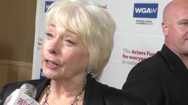 INTERVIEW Jenny O'Hara talks about Broadway at The Actors Fund's Tony Awards Viewing Gala at The Beverly Hilton Hotel in Beverly Hills at Celebrity...