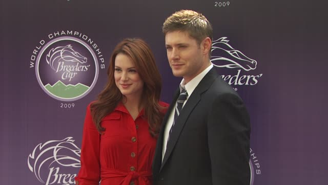 jensen ackles & danneel harris at the breeders' cup world thoroughbred championships at arcadia ca. - championships stock videos & royalty-free footage
