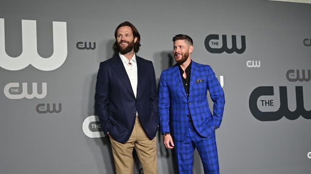 Jensen Ackles Jared Padaleck at the 2019 CW Network Upfront at New York City Center on May 16 2019 in New York City