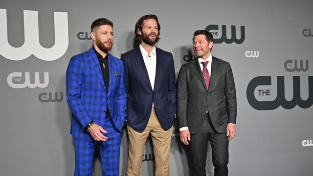 Jensen Ackles Jared Padalecki Misha Collins at the 2019 CW Network Upfront at New York City Center on May 16 2019 in New York City