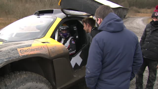 jenson button is no stranger to racing track drama.... but the f1 champion is switching gear.he is swapping racing cars for electric suv's as part of... - sports utility vehicle stock videos & royalty-free footage