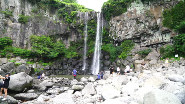 Jeongbang waterval in Jeju eiland