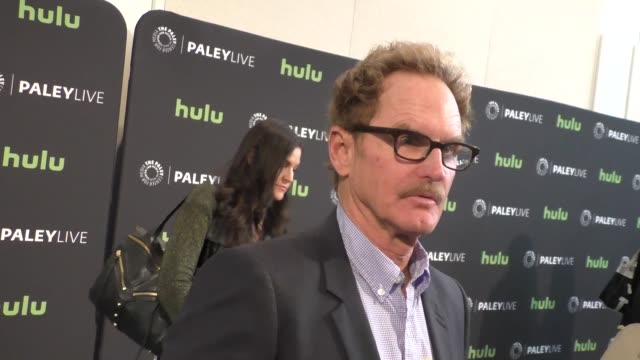 jere burns talks about angie tribeca at the paleylive an evening with angie tribeca at paley center for media in beverly hills in celebrity sightings... - paley center for media los angeles stock videos & royalty-free footage