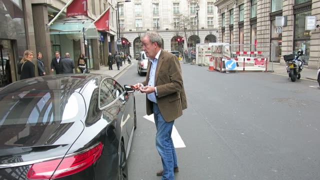 jeremy clarkson at celebrity sightings in london on march 19 2015 in london england - jeremy clarkson stock videos & royalty-free footage