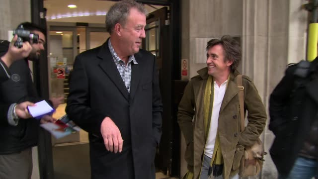 jeremy clarkson at celebrity video sightings on november 29 2013 in london england - richard hammond stock videos & royalty-free footage