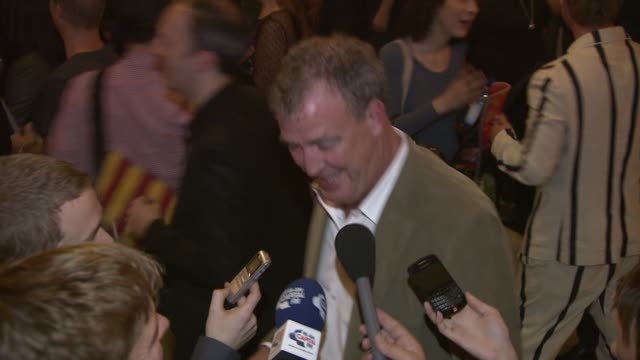 jeremy clarkson at the rock of ages gala premiere party arrivals at london england - jeremy clarkson stock videos & royalty-free footage