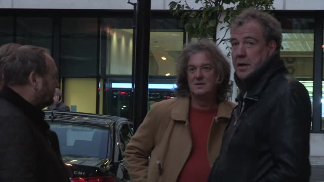 jeremy clarkson james may sighted while visiting the bbc radio two on november 29 2012 in london england - jeremy clarkson stock-videos und b-roll-filmmaterial